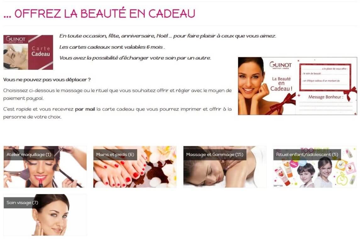 Création site internet Angers 49 - Institut de beauté