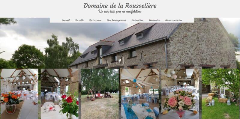 refonte site internet Angers 49 - Le domaine de la Rousselière